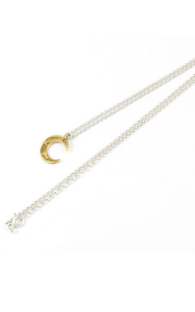GOLD AND SILVER PETITE LUNE NECKLACE by AVALANCHE JEWELLERY