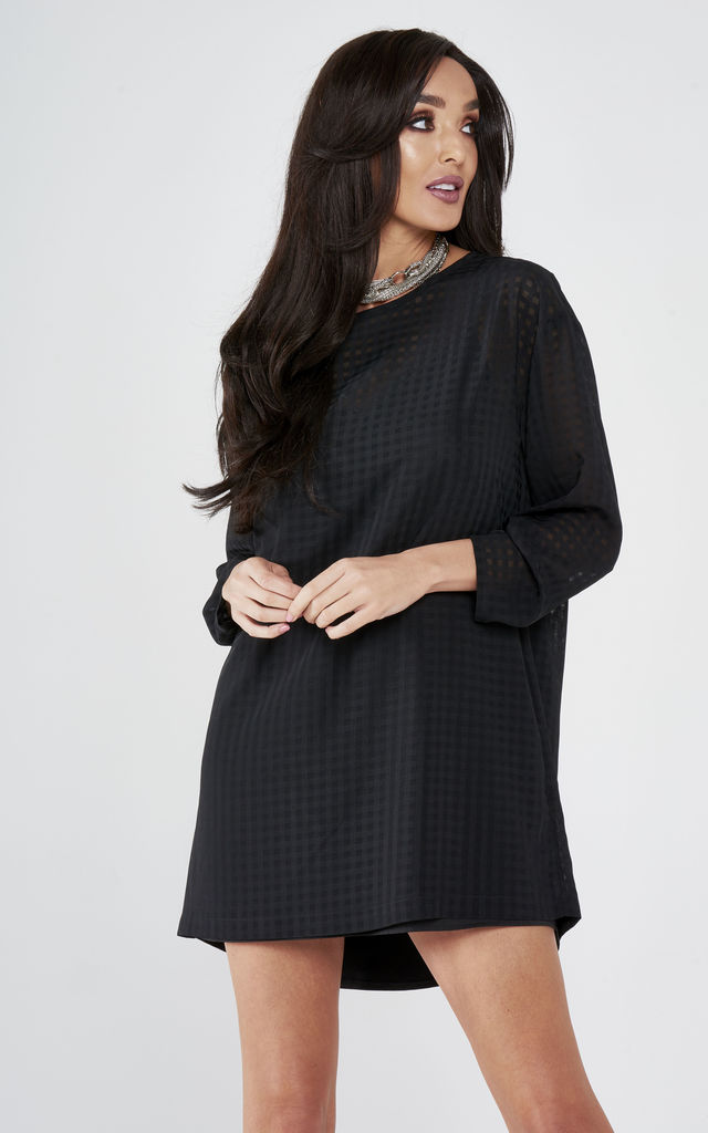 Chiffon Shirt Dress by Lady Flare