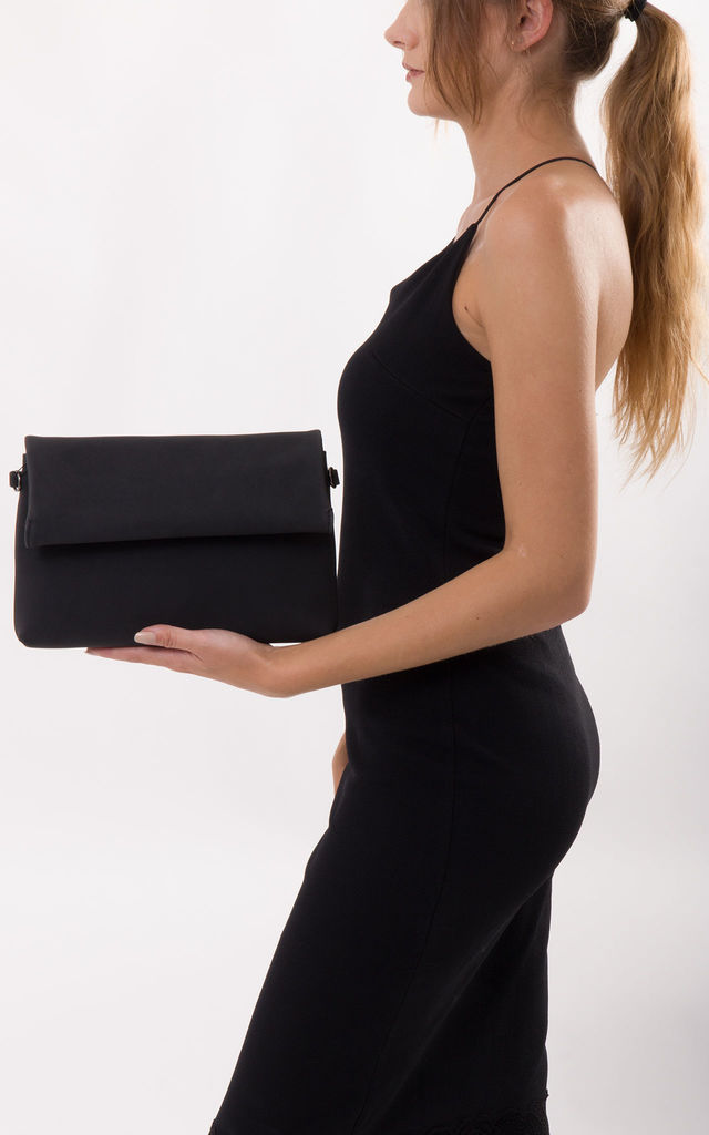Sara Envelope Clutch Bag In Black by KoKo Couture