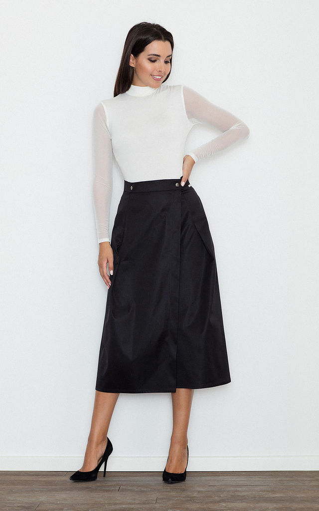 Black Midi Skirt by FIGL