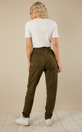 Green Trousers With Pull In Waist by VILA