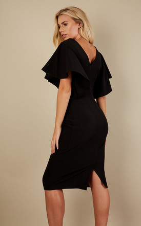 Black Ruffle Sleeve Dress by Bella and Blue