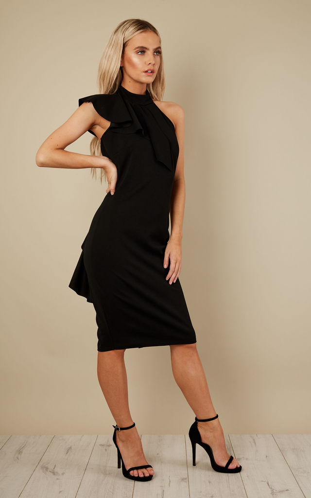 Black Ruffle Dress by Bella and Blue