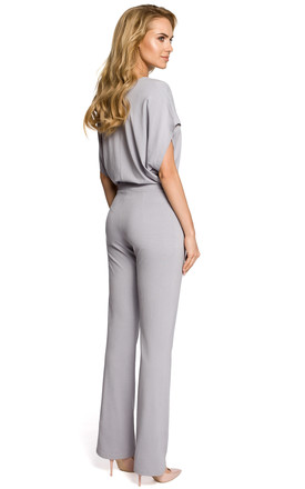 Grey Lightweight And Airy Jumpsuit by MOE