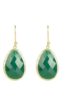 Single Drop Earrings With Green Onyx by Latelita Product photo