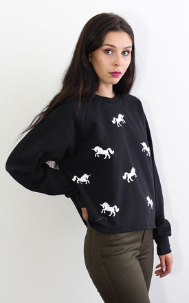 Monochrome Unicorn Sweater by Tallulah's Threads