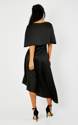 Black Asymmetric Overlay Dress by Luna