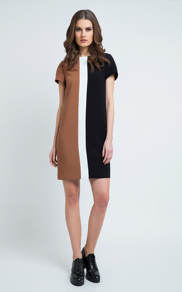 Straight Short Sleeve Dress by Conquista Fashion