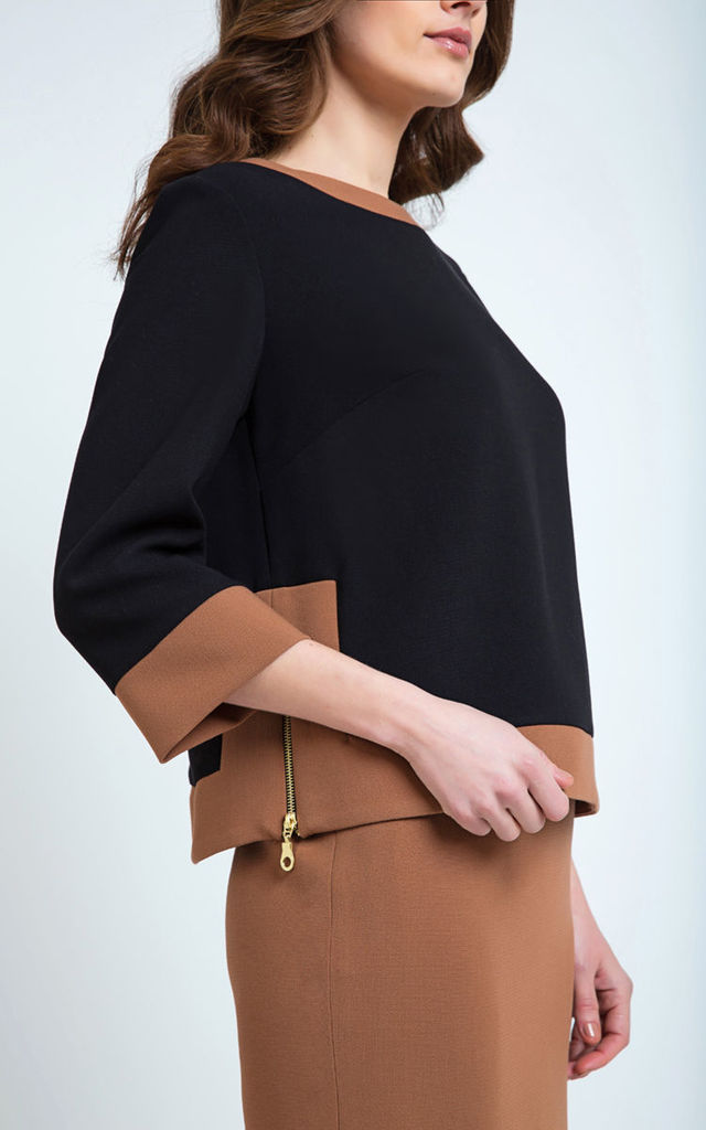 Pencil Skirt in Brown by Conquista Fashion