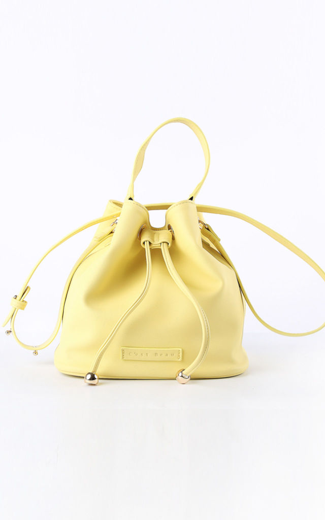 Yellow Bucket Bag by C'est Beau Bags