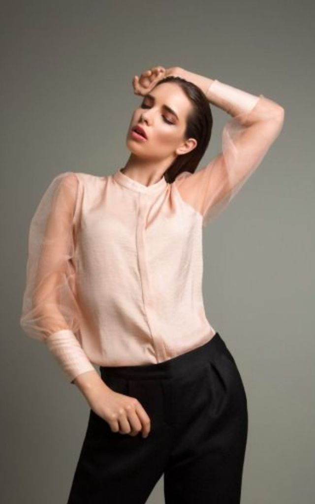 Delicate Pastel Shirt by MOUNAY