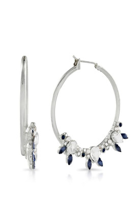 Johnny Loves Rosie Silver Montanna Hoops by Johnny Loves Rosie