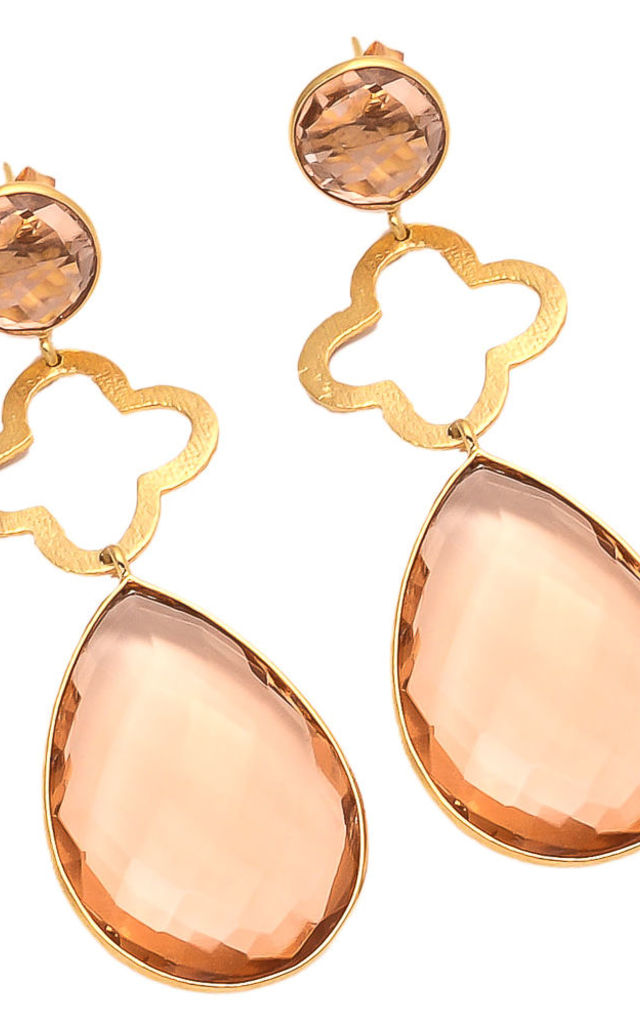 Mia Earring Peach Chalcedony by Shyla London