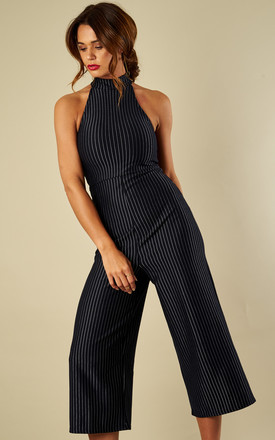 Navy Stripe Culotte Jumpsuit by Bella and Blue