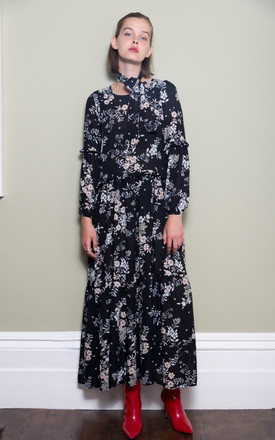 Floral Maxi Dress With Frill Detail by Minkie