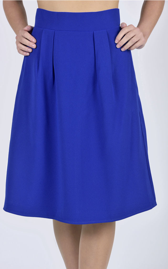 Blue A-line Skirt by CLOVES AND LACE