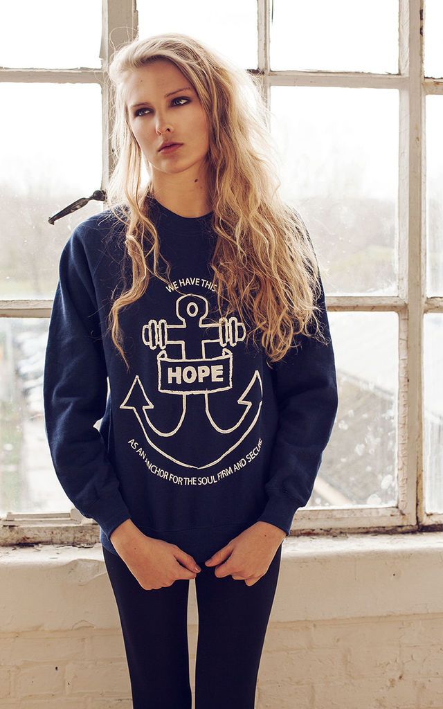 Hope Anchor Navy Sweater by Chronicles Clothing