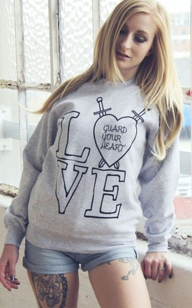Guard Your Heart Grey Sweater by Chronicles Clothing Product photo