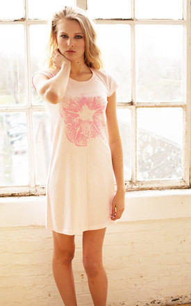 Pink Flower T Shirt Dress by Chronicles Clothing