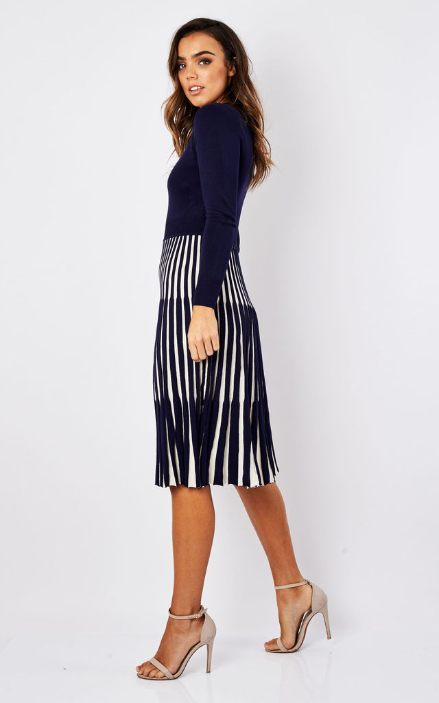 Blue Lewes Midi Dress by Fever London