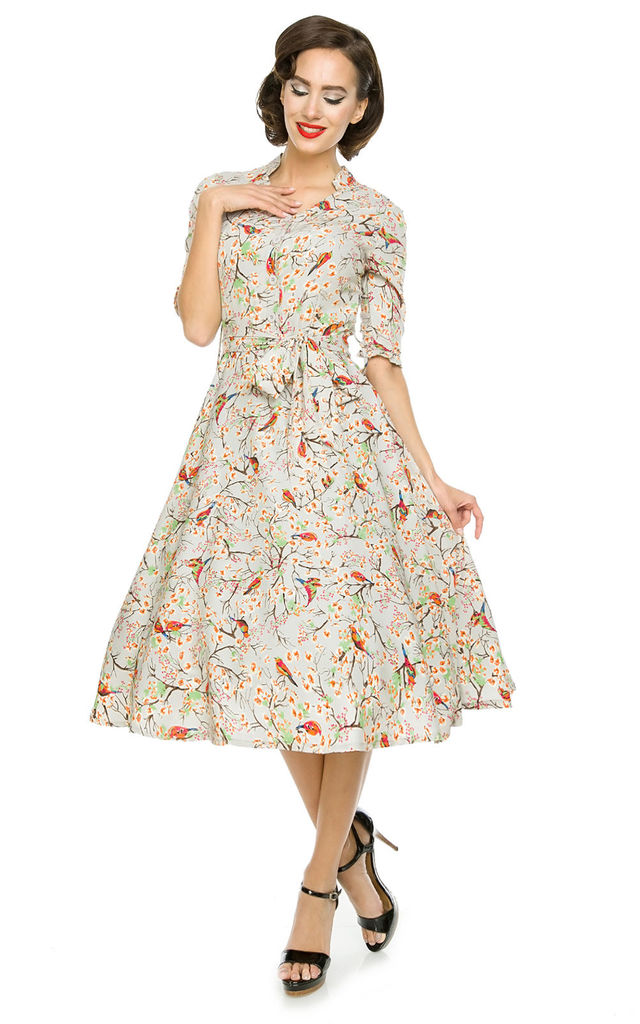 Retro Vintage 1940's 1950's Shirt Tea Swing Dress by Looking Glam