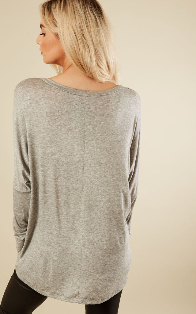 Light Grey High Low Top by Lilah Rose