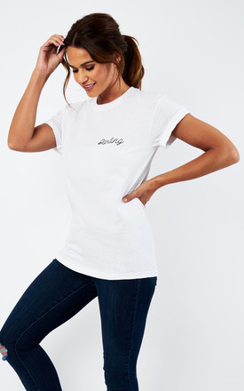 Darling Script White T Shirt by Love Product photo