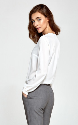 Classic Blouse In White by so.Nife