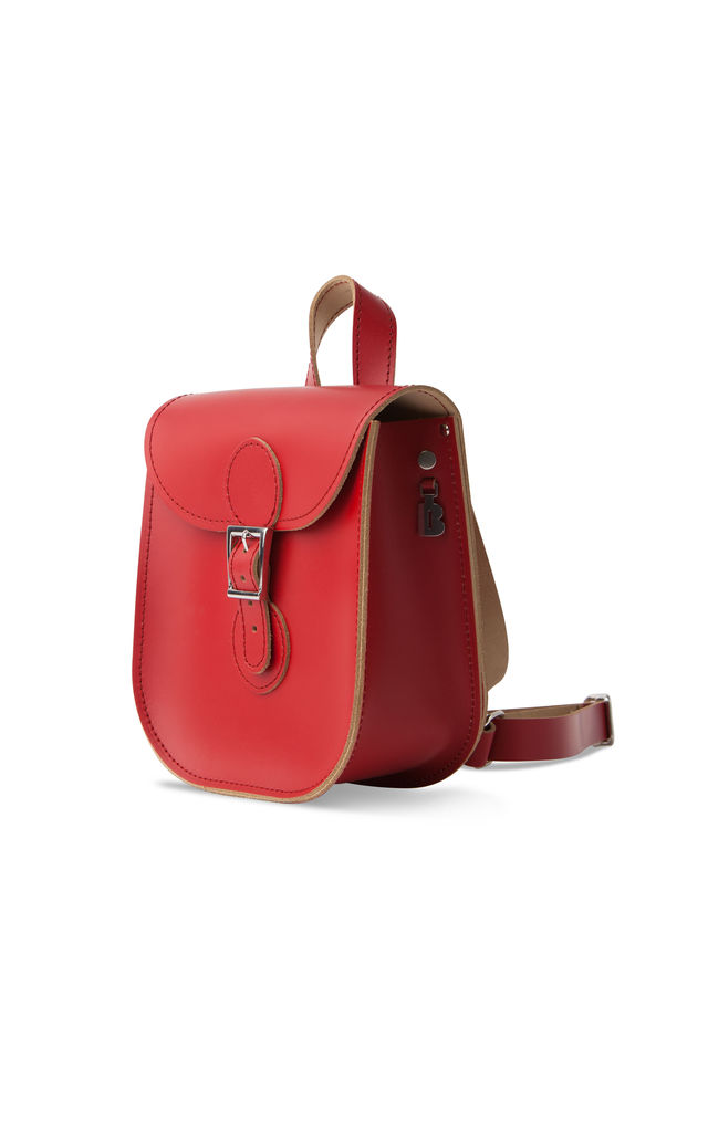 Leather Backpack Vintage Red by Brit-Stitch