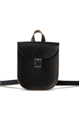 Leather Backpack In Black by Brit-Stitch Product photo