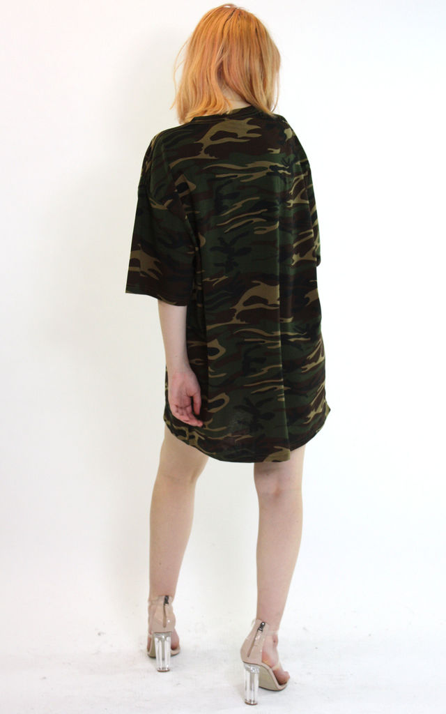 Oversized T Shirt in Camouflage by Save The People