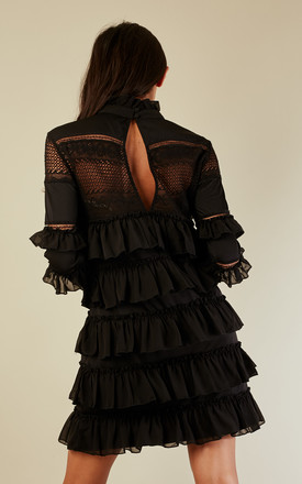 High Neck Ruffle Lace Dress by Glamorous