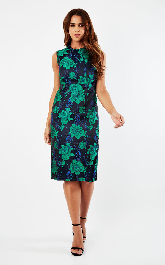 Floral Pencil Dress by CLOVES AND LACE