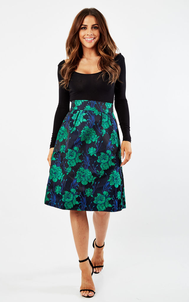 Jacquard A-line Skirt by CLOVES AND LACE
