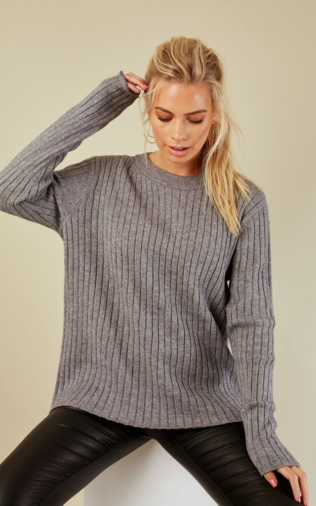 Grey Long Sleeved Over Sized Jumper by VM