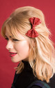 Small Glitter Hair Bow Red by Stephanieverafter