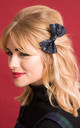 Small Glitter Hair Bow Navy by Stephanieverafter