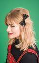 Small Glitter Hair Bow Black by Stephanieverafter