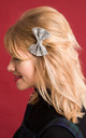 Small Glitter Hair Bow Silver by Stephanieverafter