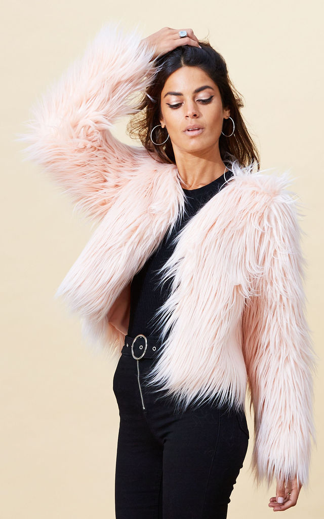 Paris Faux Fur in Blush Pink image