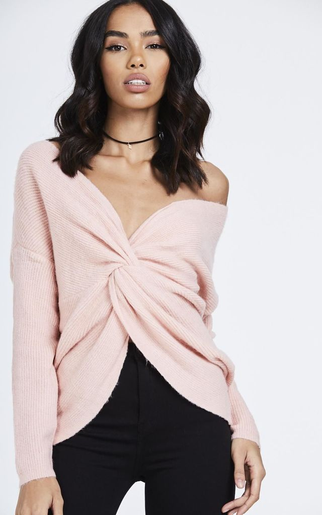 Pink Multiway Knot Jumper by House Of Queens