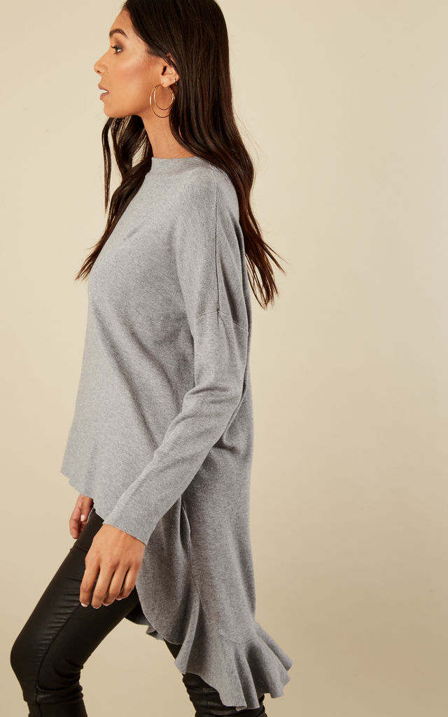 High Low Frill Back Jumper by Bella and Blue