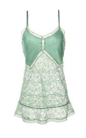 Mint Lace Babydoll by Lucia Berutto Europe