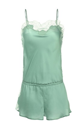 Mint Lace Jumpsuit by Lucia Berutto Europe