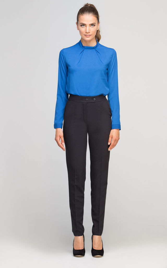 High Waisted Tailored Trouser in Black by Lanti
