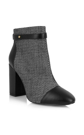 Chester Grey Block Heel Ankle Boots by Yull Shoes