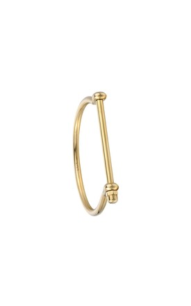 All Gold Screw Cuff Bracelet by Opes Robur