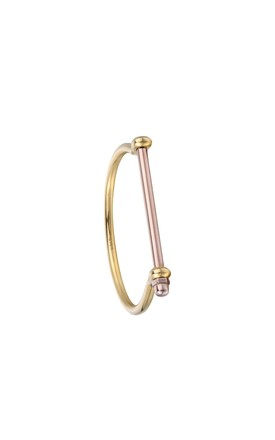Gold / Rose Gold Screw Cuff Bracelet by Opes Robur