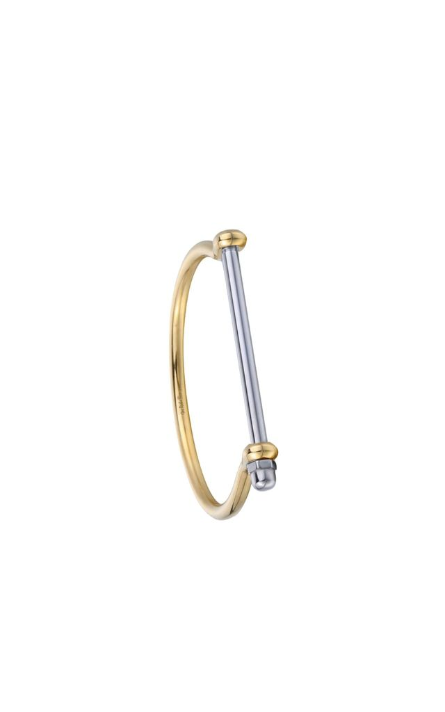 Gold / Silver Screw Cuff Bracelet by Opes Robur