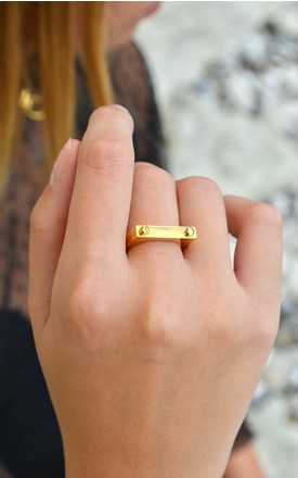 Gold D2 Ring by Opes Robur